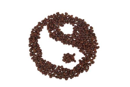 coffee Yin Yang Stock Photo - 4543886