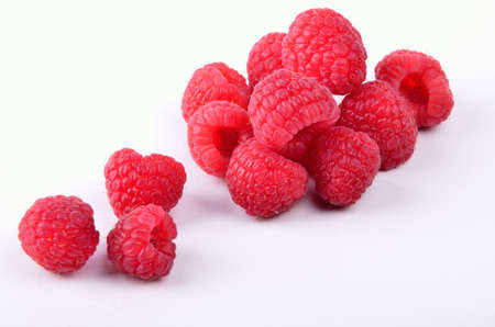 Juicy raspberries photo