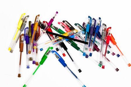 ball pens stationery: Plumas y lápiz.