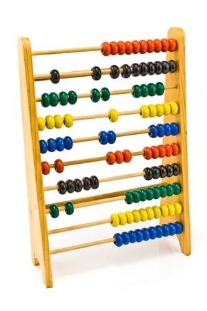 �baco: Abacus coloridos aislados en blanco