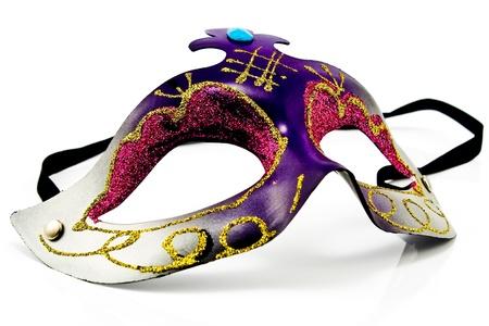 mascaras de carnaval: Máscara de Carnaval aislado en blanco Foto de archivo