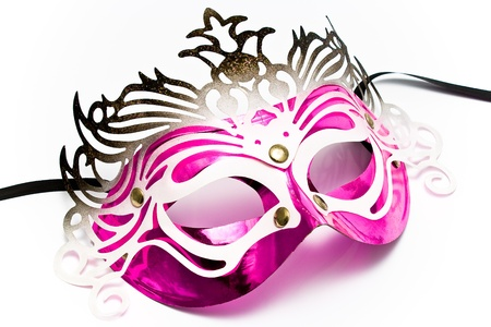 Carnival mask isolated on white Stock Photo - 9018176