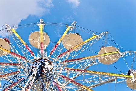 Ferris Wheel on a blue sky Stock Photo - 9281998