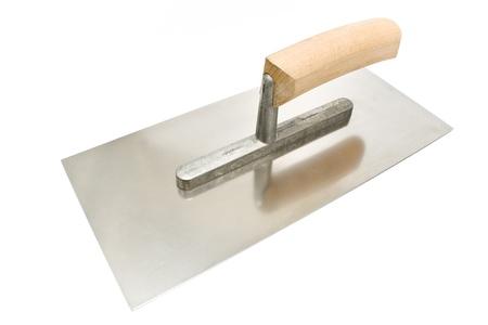 Finishing trowel isolated on white photo