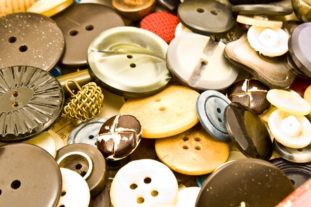 Clothing buttons collection  background photo
