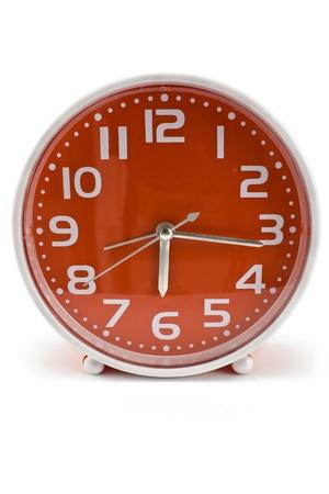 Quartz alarm clock isolated on white    Stock Photo