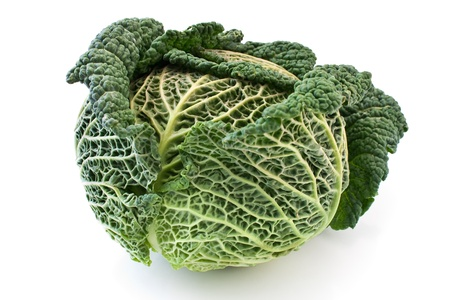 Kale vegetable isolated on white photo