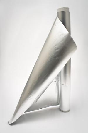 Lámina de aluminio Foto de archivo