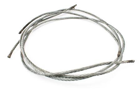 alargamiento: Cable de acero sin soldadura, aislado en blanco