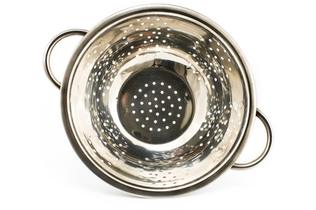 Chrome strainer isolated on white Stock Photo - 13947372