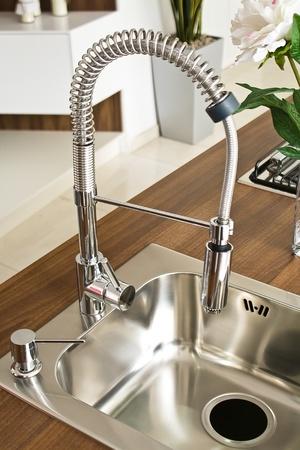 Modern kitchen counter Stock Photo