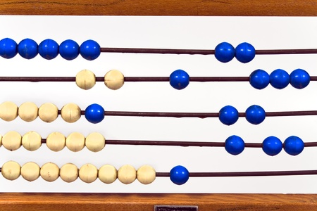 Closeup of old school abacus photo