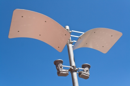 Modern street lamp over blue sky Stock Photo - 14166359