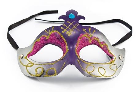 mascara de carnaval: Máscara de carnaval aisladas en blanco Foto de archivo