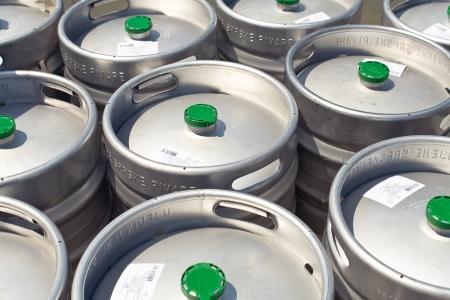 Metal beer barrels as background Stock Photo - 14341533