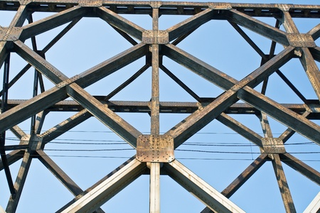 Construction of old railway bridge as background Stock Photo - 14754069