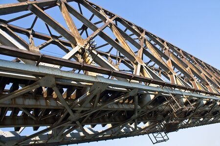 Old railway bridge over the blue sky  Stock Photo - 14754070