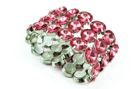 Diamond bracelet isolated on white Stock Photo - 14870342