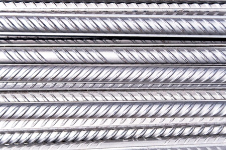 Steel rod as background