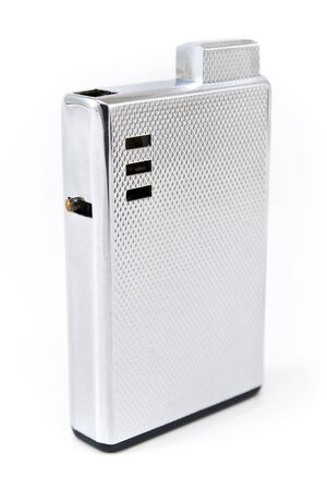 Luxury silver lighter isolated on white Stock Photo - 15491016