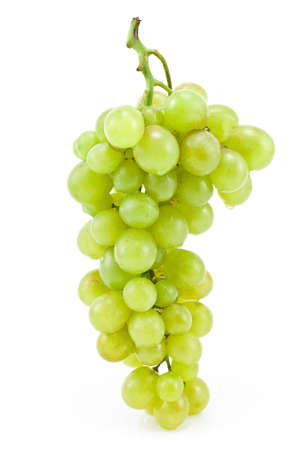 White grape isolated on white background photo