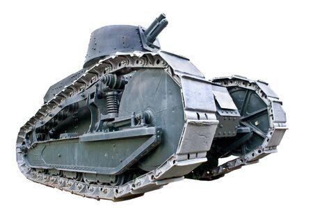 tanque de guerra: Tanque de la Primera Guerra Mundial aislado en blanco
