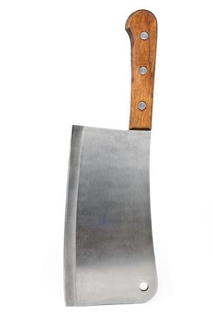 kasap: Beyaz zemin üzerine izole et balta bıçak