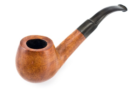 Tobacco pipe  isolated on  white  photo