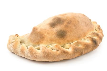 pasty: Traditional cornish pasty isolated on white Stock Photo