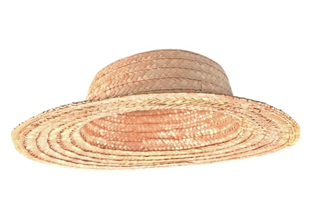 Straw hat isolated on white photo