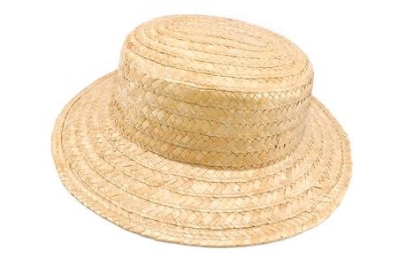 resistol: Sombrero de paja aislado en blanco