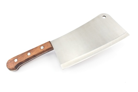 Meat cleaver knife isolated on white background Stock Photo