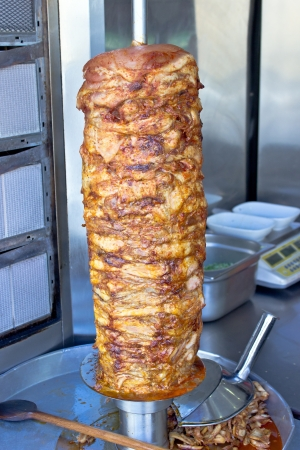 Greek gyros roasted meat photo