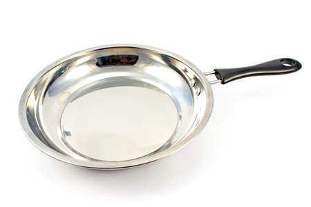 griddle: Frying pan on white