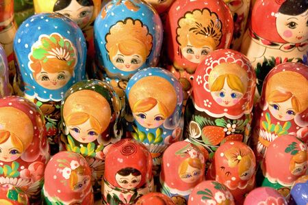 matroshka: Babushka Dolls Stock Photo