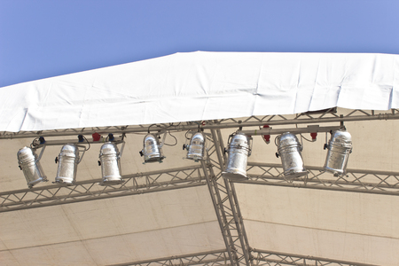 Stage lights on concert roof photo