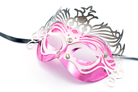 Carnival mask isolated on white photo