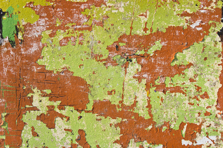 Colorful rusty metal texture as background Stock Photo