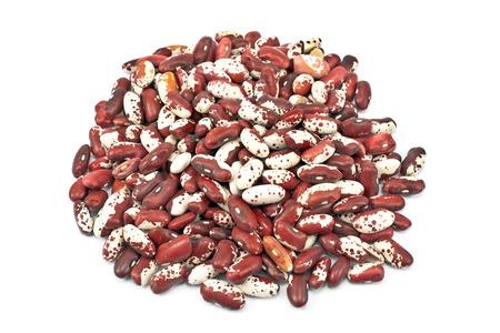 anasazi: Anasazi beans isolated on white