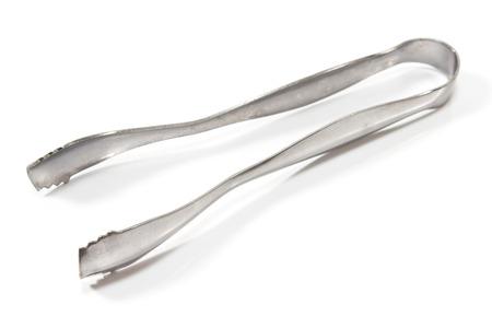 ice tongs: Ice tongs isolated on white