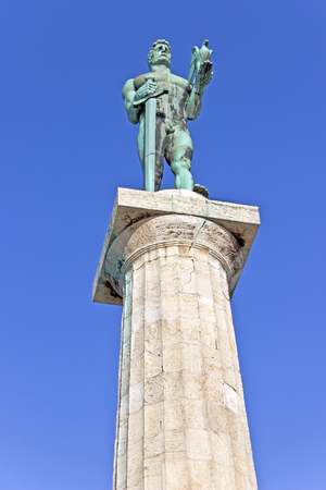 victory symbol: Statue of the Victor or Statue of Victory symbol of Belgrade - Serbia