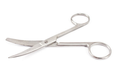 nail scissors: Nail scissors isolated on  white Stock Photo