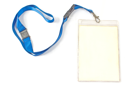 credential: Blank ID card tag isolated on white