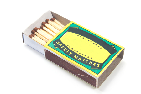 Matches box isolated on white Stock Photo