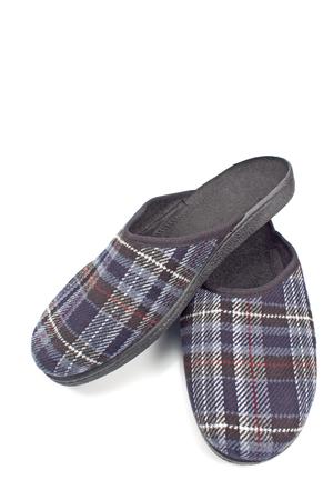 House slippers isolated on white background Stock Photo - 90086398