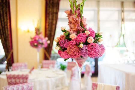 arrangements: Nice flower arrangement for an event party or wedding reception