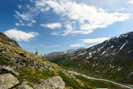 jotunheimen national park: Jotunheimen National Park nature in Norway. Hiking on the mountains.