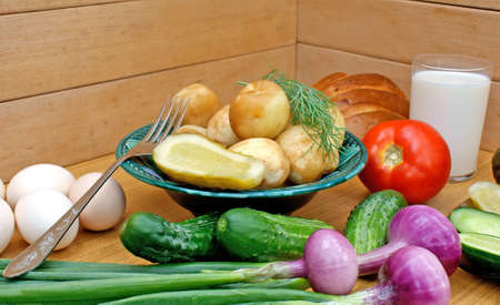 palatable:  appetizing boiled potatoes and  palatable makeup vegetable -country food