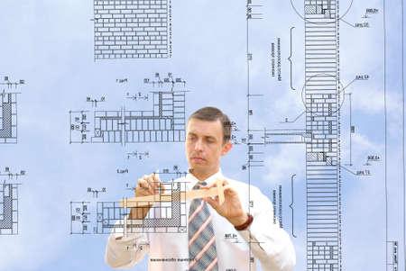 ing�nieur-conception grave r�soudre compos�s architectural  Banque d'images - 7607483