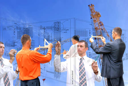 projection -initial preparatory stage in construction new building Stock Photo - 7677209